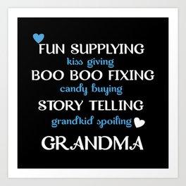 Grandma Description Art Print