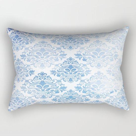 Blue Watercolor Pattern 04 Rectangular Pillow