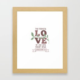 Lamentations 3 22 Framed Art Print