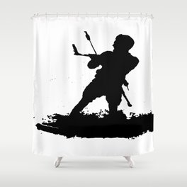 Board Out Of Your Mind Wakeboarding Silhouette Shower Curtain