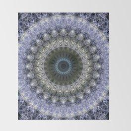 Amethyst mandala with blue star Throw Blanket