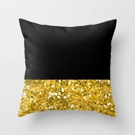 Glitter Colorblock Throw Pillow