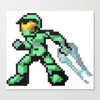 master chief Canvas Prints featuring master chief by Walter Melon