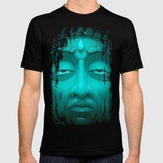 Buddha I. Black Mens Fitted Tee MEDIUM