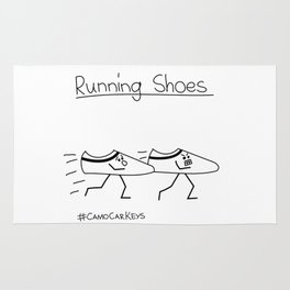 Running Shoes Rug