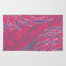 Sizzling flames Rug
