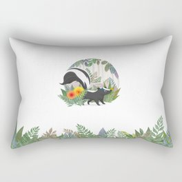 Skunk in the forest Rectangular Pillow
