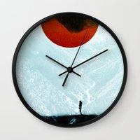 arya stark Wall Clocks featuring Found in isolation by Stoian Hitrov - Sto