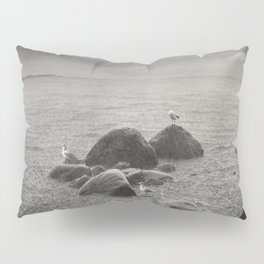 Seagulls in storm, film scanned Pillow Sham