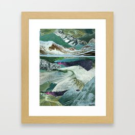 Experiment am Berg 14 Framed Art Print