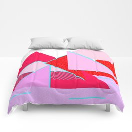 Hello Mountains - Flowering Slopes Comforters