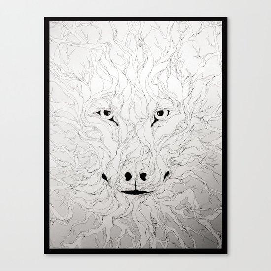 Wolfs wood Canvas Print