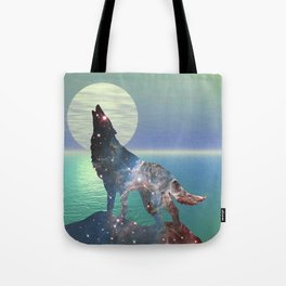 Star Wolf Tote Bag