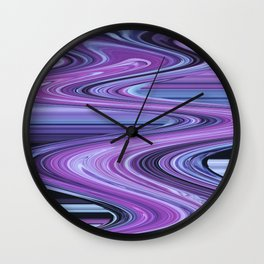 Traveling Down the Purple River Wall Clock