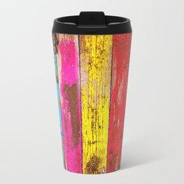 Vintage Colored Wood Travel Mug