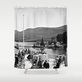 Vintage Lake George: Huletts Landing Shower Curtain