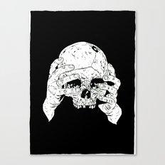 Skull In Hands Canvas Print