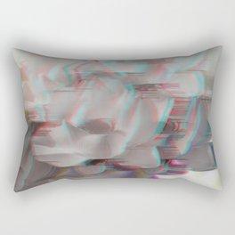 Lotus Glitch Rectangular Pillow