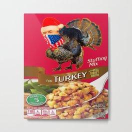 Turkey Stuffing Mix Metal Print