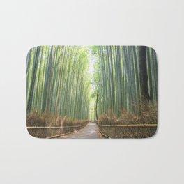 Empty Path Arashiyama Bamboo Forest Bath Mat