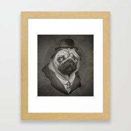 Hobo Pug Framed Art Print