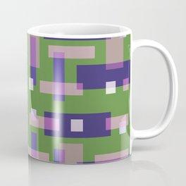Purple and Green Block City Coffee Mug
