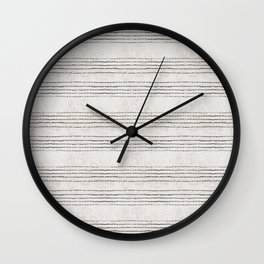 LINEN STRIPE RUSTIC Wall Clock