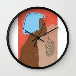 Enjoying the Day Wall Clock
