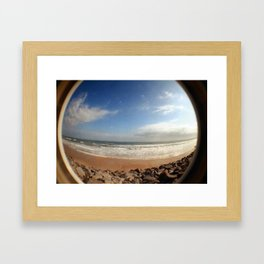 Fisheye Beach (Film) Framed Art Print