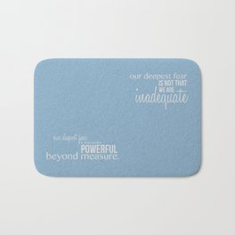 Our Deepest Fear - Coach Carter - Quote Poster Bath Mat