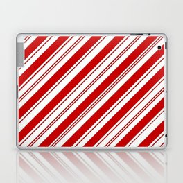winter holiday xmas red white striped peppermint candy cane Laptop & iPad Skin