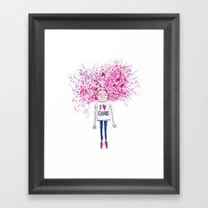 I love Chaos Framed Art Print
