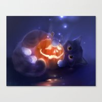 pumpkin Canvas Prints featuring Pumpkin by apofiss