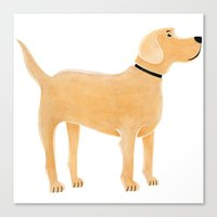 labrador Canvas Prints featuring Labrador by Cathy Brear