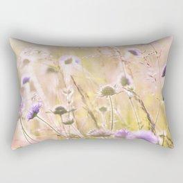 Purple Wildflowers 2 Rectangular Pillow