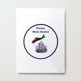 Pictou Nova Scotia Design Metal Print