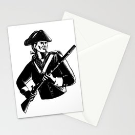 American Patriot Scratchboard Stationery Cards