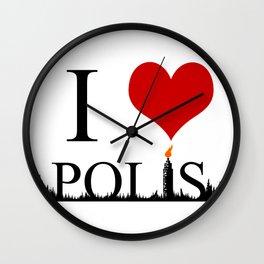 I Heart Polis Wall Clock