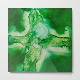 The Green Cross Metal Print