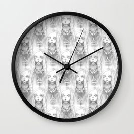 The little ghost girl Wall Clock