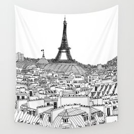 Paris Rooftops Wall Tapestry