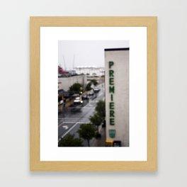 Fuzzy Premiere  Framed Art Print