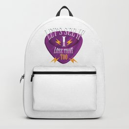 GUITAR PICK FUNNY QUOTE Backpack