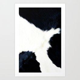 Black & White Spots (Cow Print) Art Print