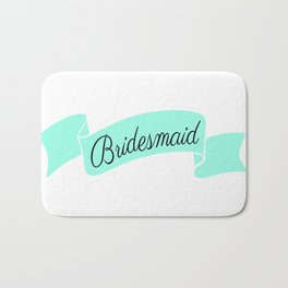 Mint Bridesmaid Bath Mat