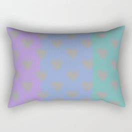 tre cuori Rectangular Pillow