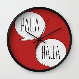Halla! Wall Clock