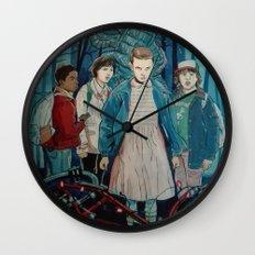 Stranger Things artwork painting Wall Clock
