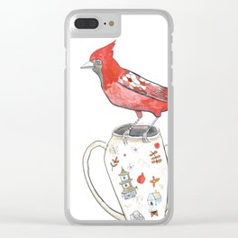 Cardinal Clear iPhone Case