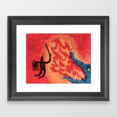 Final Blow, Framed Art Print